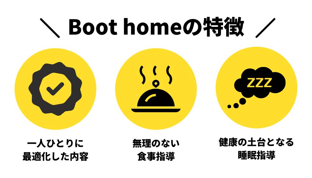 Boot home(ブートホーム)の特徴